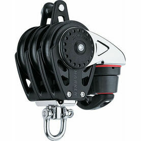 Harken 57 mm Triple Block Swivel, Becket, Cam Cleat