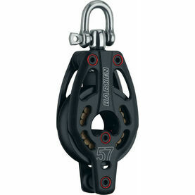 Harken 57 mm Aluminum Low-Load Block Swivel, Becket