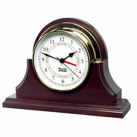 Weems & Plath Single Wood Base Endurance 125 Clock (Mahogany Finish)