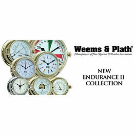 Weems & Plath Endurance II 105 Quartz Clock (Chrome and Brass)