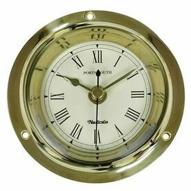 Nauticalia  Brass Portsmouth Clock