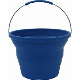 Meridian Zero Collapsible Blue Silicon Bucket - 7 Litres