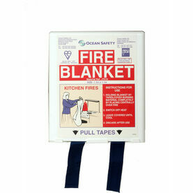 Ocean Safety Compact Fire Blanket - 1.1m x 1.1m