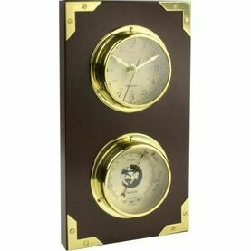 "Nauticalia ""Yacht"" Captain Mounted Clock And Barometer Set"