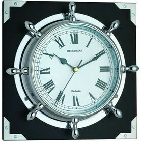 Nauticalia Chrome Clock - Ship's Wheel