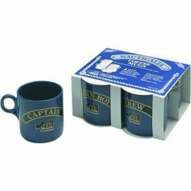Nauticalia 4 Blue Stackable Mugs - 245ml