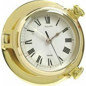 Nauticalia Brass Clock - Saloon