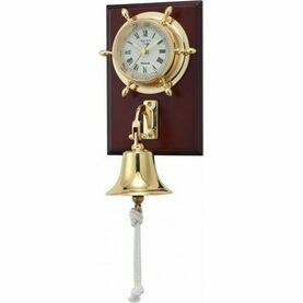 Nauticalia Brass Ship's Bell Clock (mounted)