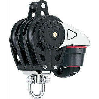 Harken 75 mm Triple Ratchetchamatic Block Swivel, Becket, Cam Cleat
