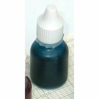 Weems & Plath Bottle of Blue Ink with Nozzle for Controlled Drip Feed