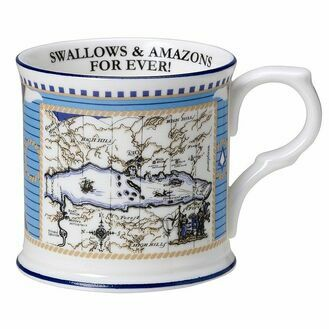 Swallows and Amazons Fine Bone China - Beaker With Map