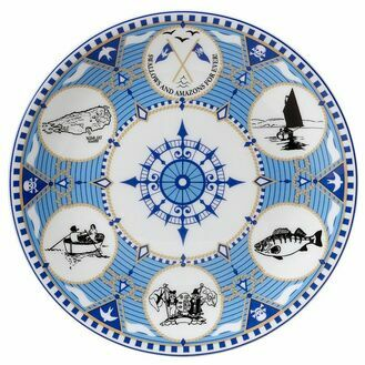 Swallows and Amazons Fine Bone China - Coupe Plate 21cm