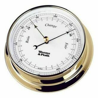 Weems & Plath Endurance 125mm Weatherproof Barometer (Available in Chrome and Brass)