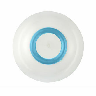 Bowl -White w Vivid Blue Non Slip