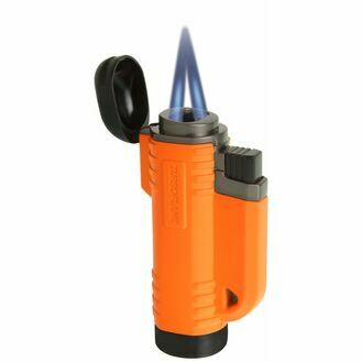 Turboflame V Flame Twin Jet Lighter - Orange - Retail Blister Packed
