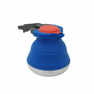 Collapsible Kettle Blue Body, Red Lid