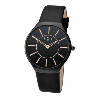 Nauticalia Limit Classic Watch - Black with Gold Hands