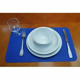 No Go Non Slip Placemat - (Navy Blue)