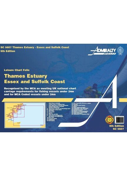 Admiralty SC5607 Thames Estuary Essex and Suffolk Coasts (Small Craft Folio)