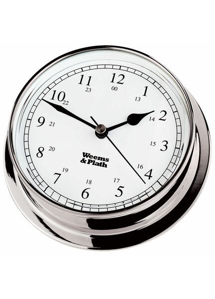 Weems & Plath Chrome Endurance 125 Quartz Clock