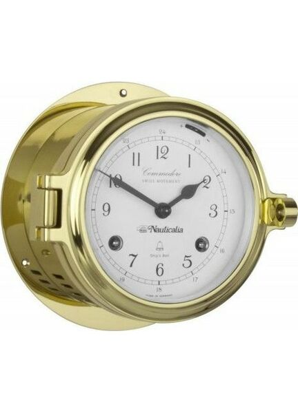 Nauticalia Brass Commodore Clock (Mechanical)