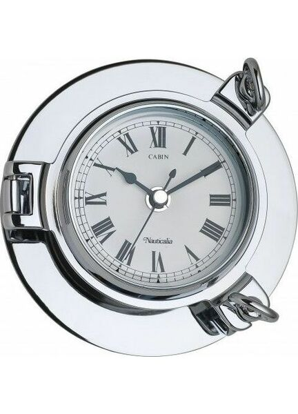Nauticalia Chrome Cabin Clock