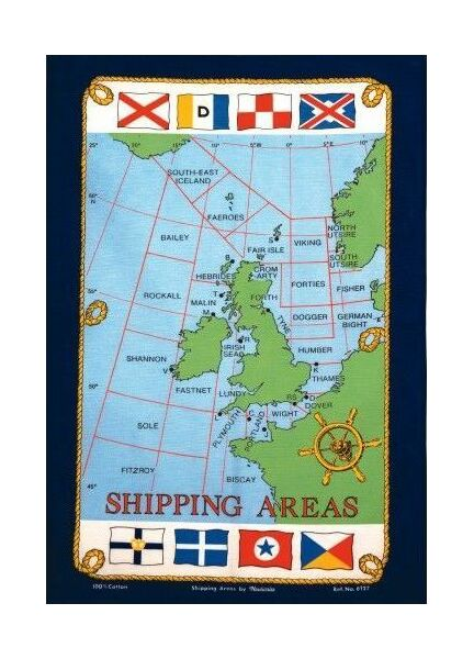 Nauticalia Galley Dish Cloth - Shipping Areas