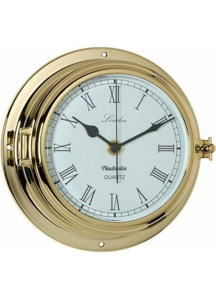 Nauticalia Brass London Clock