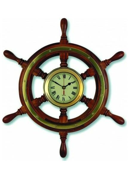 Nauticalia Clock - Ship's Wheel
